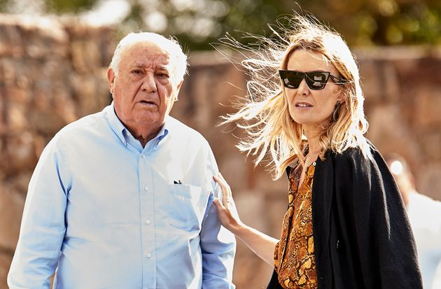 Amancio Ortega junto a su hija Marta en el hipódromo de Casas Novas (A Coruña) en