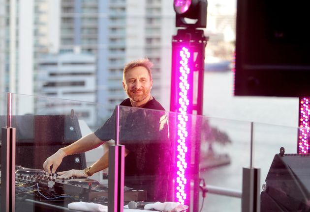 David Guetta performing a set from home earlier this year