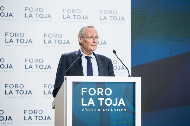Josep Piqué, presidente del Foro La Toja, en la sesión de