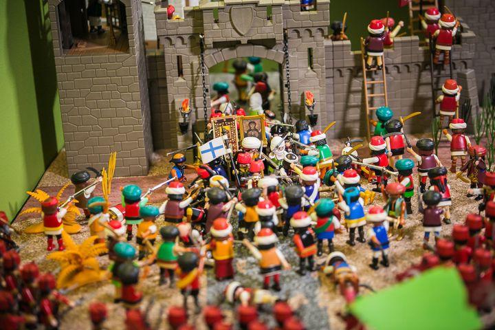 Η πολιορκία της Τριπολιτσάς. Διόραμα του Άγγελου Γιακουμάτου.