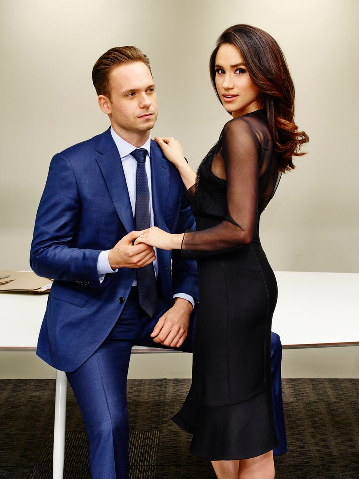 Patrick J. Adams played Michael Ross and Meghan Markle played Rachel Zane on Suits.