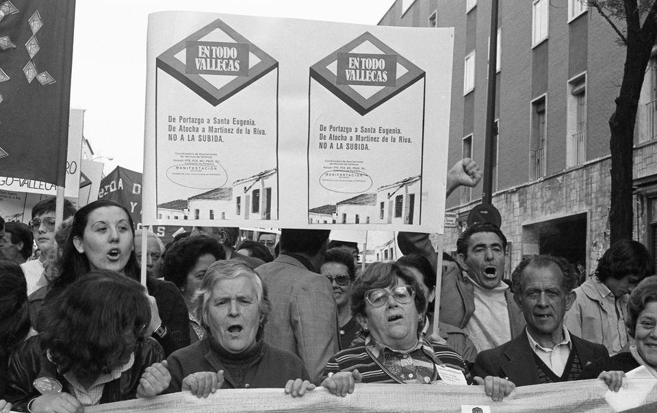 Manifestación por la ampliación del metro a todo Vallecas en