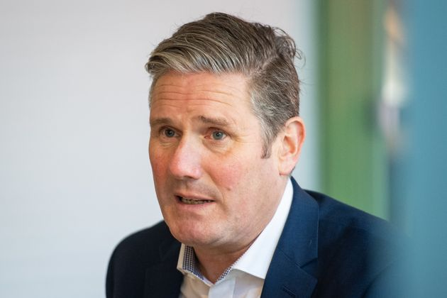 Labour Party leader Keir Starmer during a visit to Buck Street Market in Camden, north London, to call...