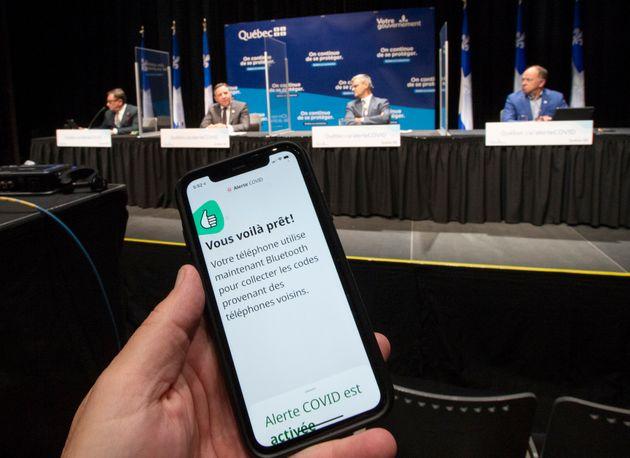 L Application Alerte Covid Maintenant Disponible Au Quebec Huffpost Quebec