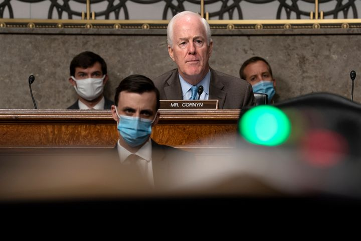 Sen. John Cornyn attended Senate Judiciary Committee hearings on Capitol Hill last week. Two other senators on that committee