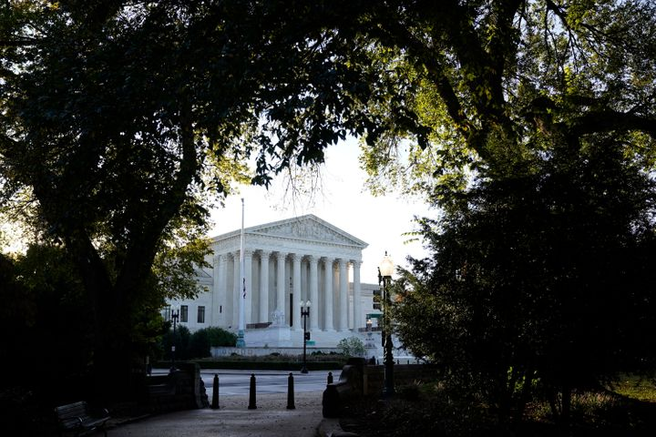 The Supreme Court is seen in Washington, Monday, Oct. 5, 2020, as the justices begin a new term following the recent death of