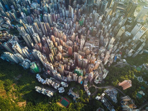 Aerial scene of Hong Kong, Victoria