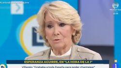 Esperanza Aguirre, agradecida con la idea que le acaban de dar en TVE:
