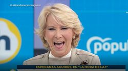 Más Esperanza Aguirre que nunca: manda este mensaje en su despedida de 'La Hora de La