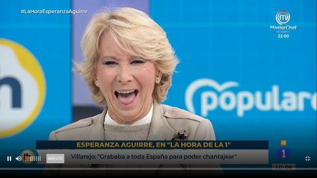 Esperanza Aguirre este martes en 'La Hora de La