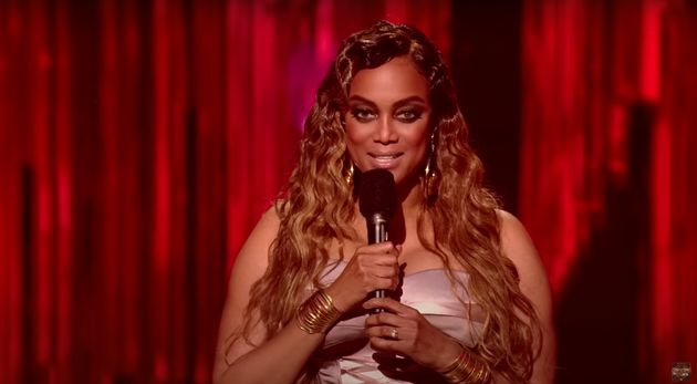 Host Tyra Banks was left trying to reconcile the situation