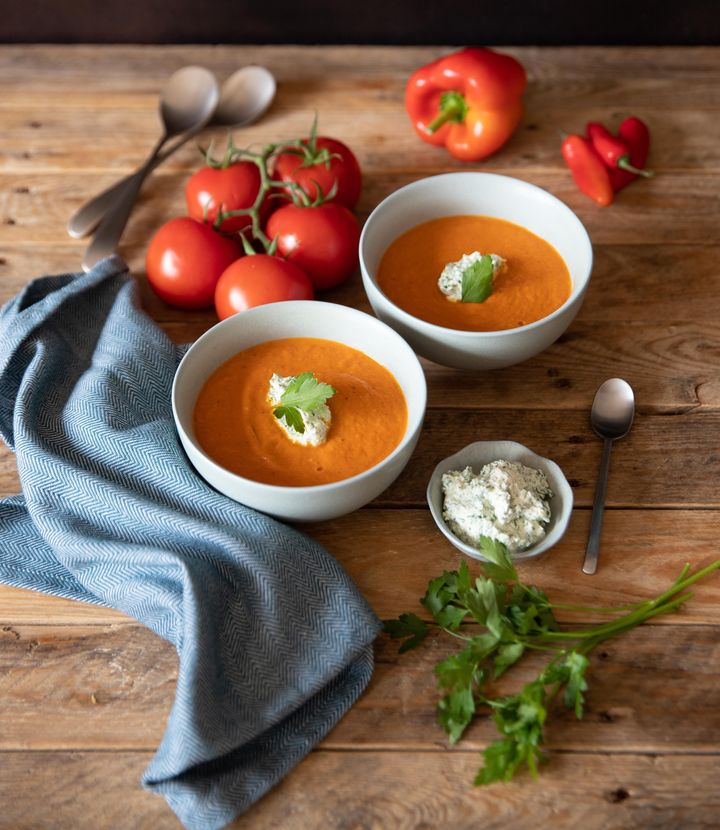 "Isle of Wight Balsamic Roast Tomato Soup recipe from <a href=""https://thetomatostall.co.uk/"" target=""_blank"" rel=""noopener noreferrer"">thetomatostall.co.uk</a>"