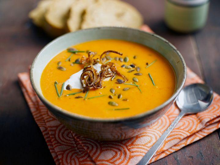 "Shallot, Pumpkin and Red Pepper Soup recipe from <a href=""http://ukshallot.com/"" target=""_blank"" rel=""noopener noreferrer"">ukshallot.com</a>"