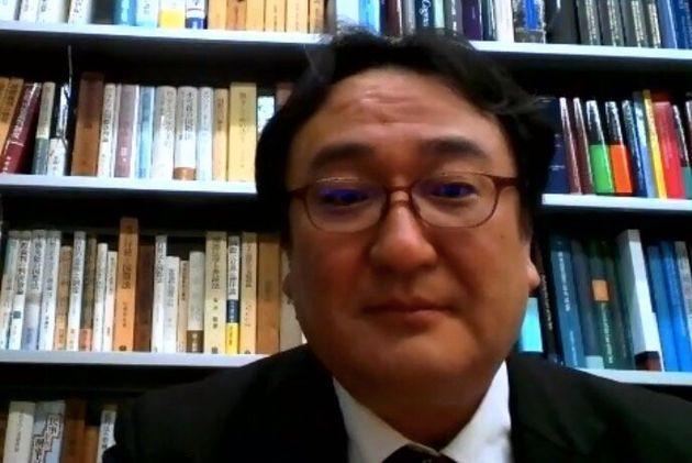 香港国家安全維持法の域外適用について解説する萬歳寛之・早稲田大学教授