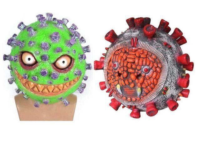 Photo des déguisements d'Halloween mis en vente sur Amazon sur le thème du coronavirus.