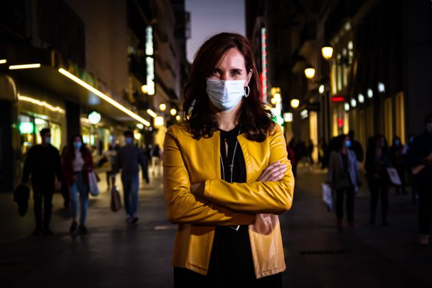 Mónica García, en la calle