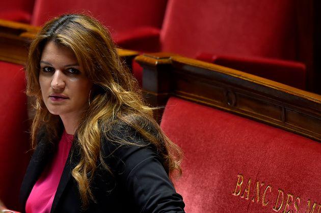 Marlène Schiappa photographiée à l'Assemblée nationale le 16