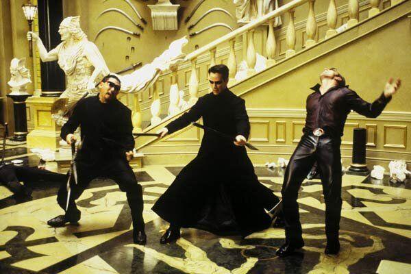 Photo de Marcus Young, Keanu Reeves, Ousaun Elam lors dufilm Matrix Reloaded