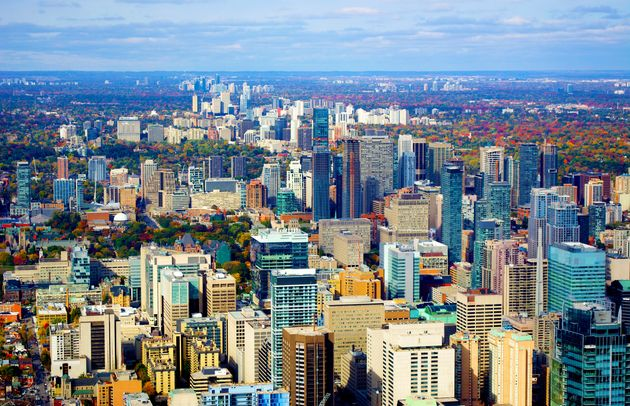Parts of downtown and midtown Toronto are seen in this undated stock photo taken from the CN Tower. The...