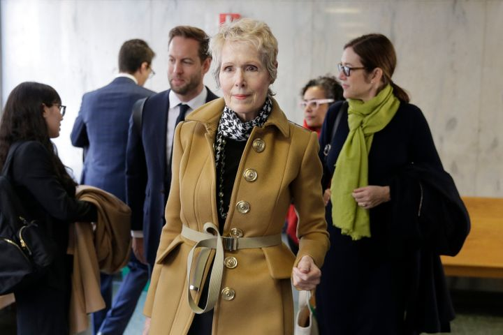 E. Jean Carroll waits to enter a courtroom in New York on March 4.