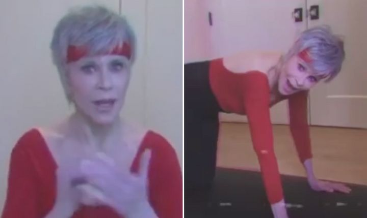 Jane Fonda in her all new home workout clip