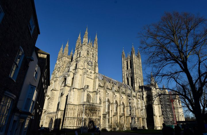 Canterbury Cathedral is seen in Canterbury, southern Britain, on Jan. 15, 2016.