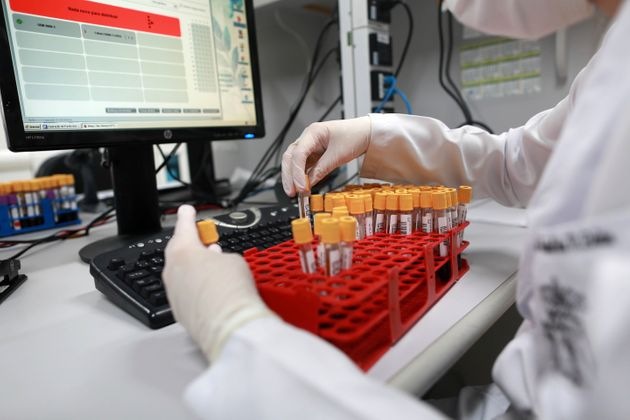 Hospital Puc de Campinas (SP), Brazil on October 2, 2020 will receive doses of the new vaccine against...