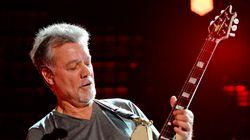 Eddie Van Halen, fondateur du groupe de hard rock Van Halen, est