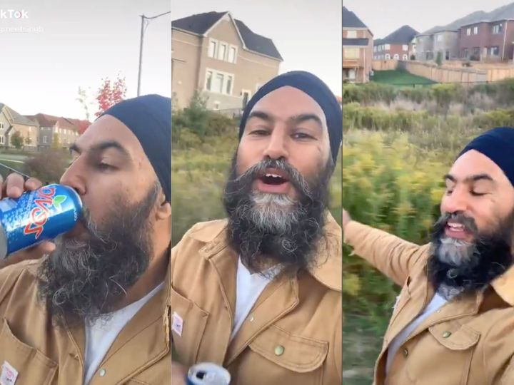 "NDP Leader Jagmeet Singh vibing to Fleetwood Mac's ""Dreams."""