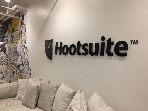 The interior of Hootsuite's Toronto