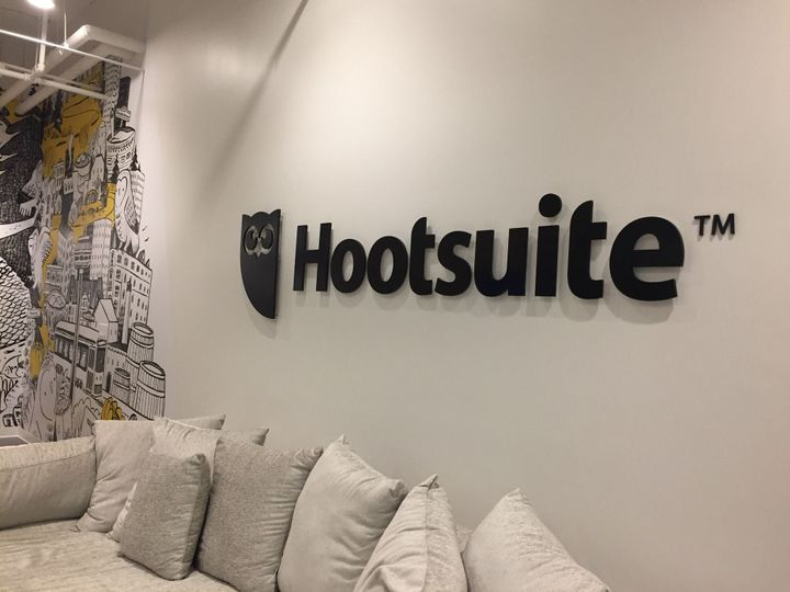 The interior of Hootsuite's Toronto offices.