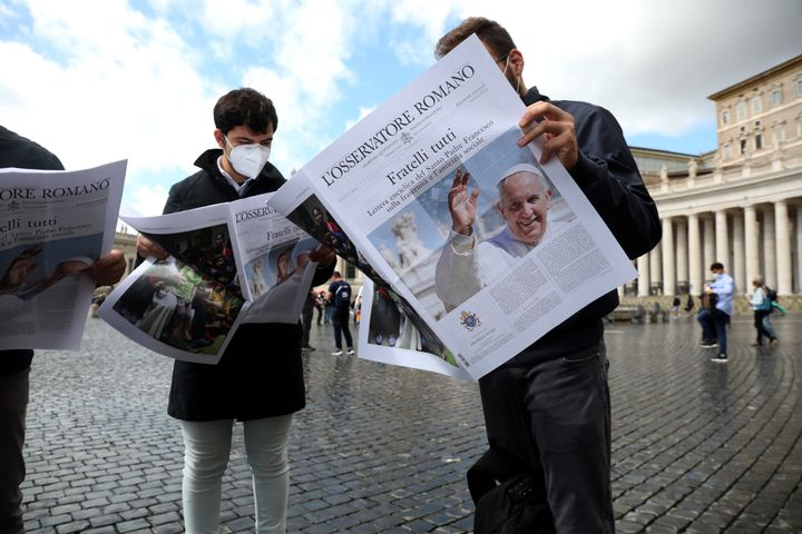 """In """"Fratelli Tutti,"""" Pope Francis presents his vision for a world where people truly care for and protect each other."""