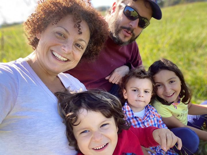 Daniella Knight and her family.