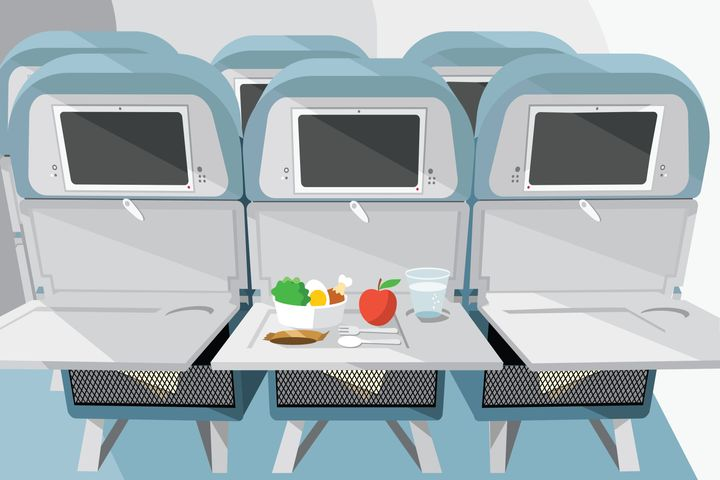 The best snacks to have on a plane.