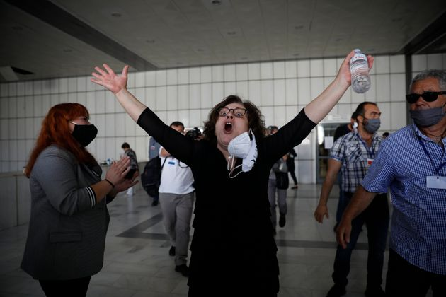 Magda Fyssa, the mother of late Greek rap singer Pavlos Fyssas, who was stabbed and killed by a supporter...