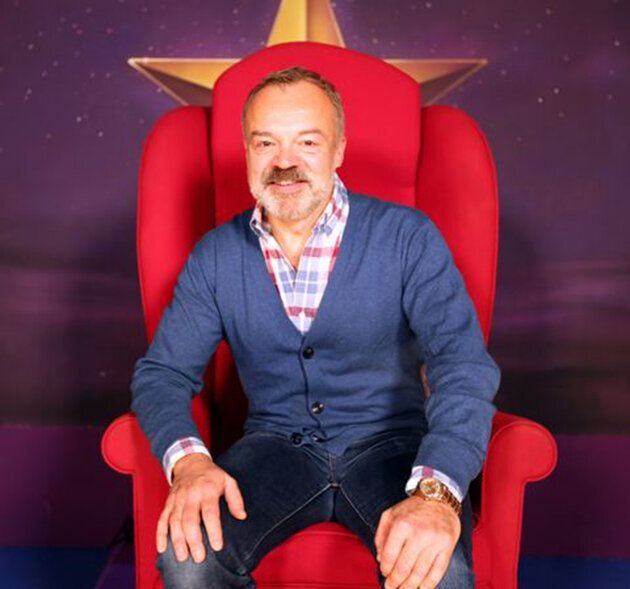 Graham Norton in his Big Red Chair