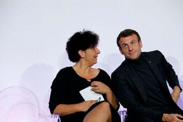 Emmanuel Macron et la ministre de l'enseignement supérieur et de la recherche Frédérique...