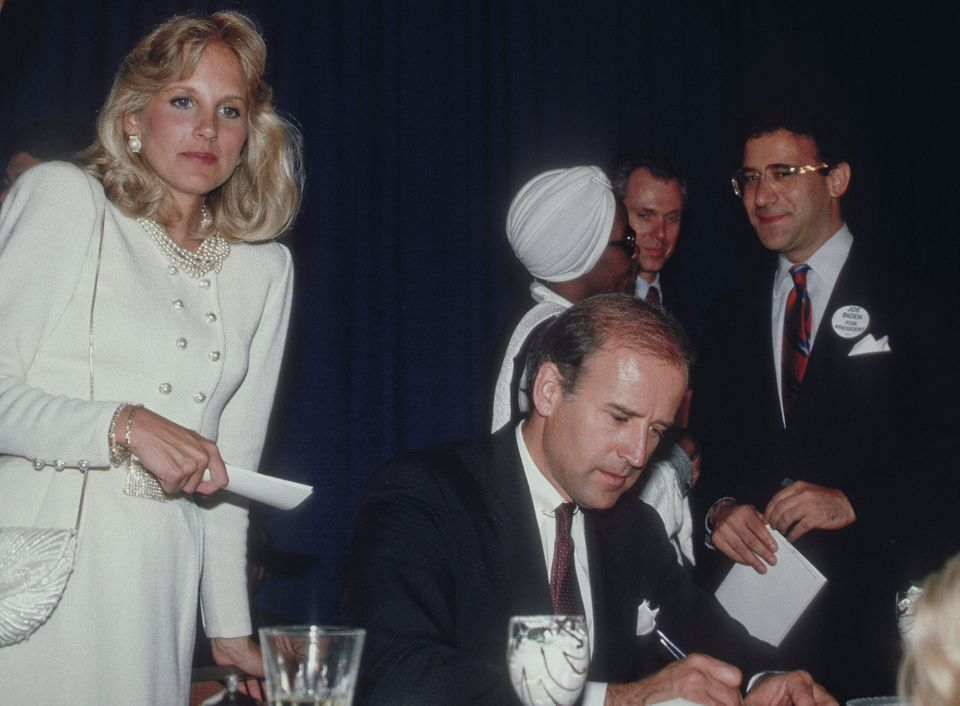 Joe and Jill Biden at a fundraiser in Chicago on May 11, 1987.