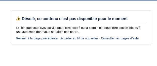 Facebook a aussi supprimé le profil personnel de M.