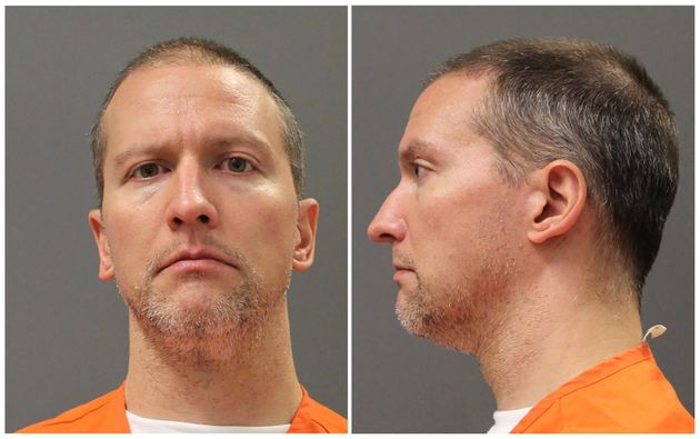 Former Minneapolis police officer Derek Chauvin poses for an undated booking photograph taken after he...