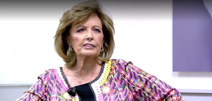 Mª Teresa Campos, en 'Sábado Deluxe' el 3 de octubre de 2020.