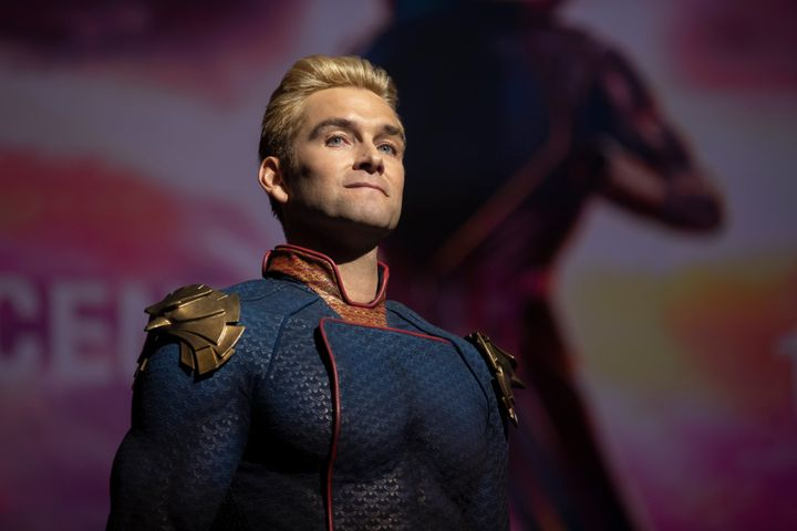 "Antony Starr as Homelander on ""The Boys."""