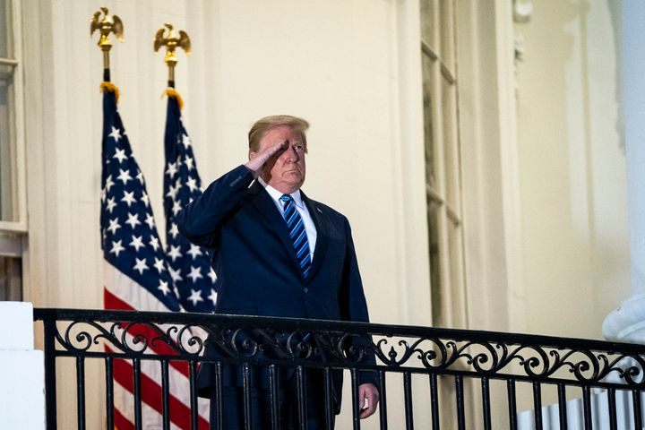 Trump appeared at the White House on Monday after leaving the hospital and attempted to persuade Americans that COVID-19 was
