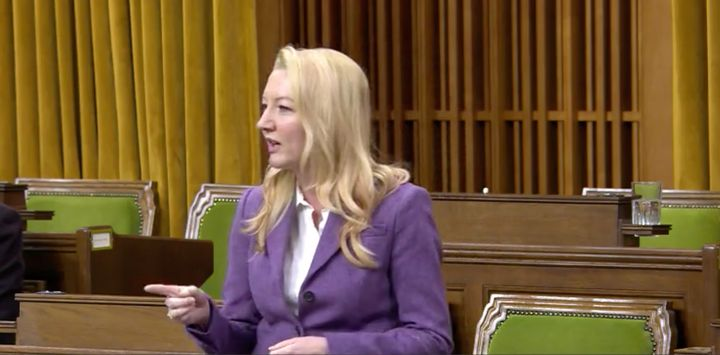 Liberal MP Jennifer O'Connell is shown speaking in the House of Commons on Oct. 7, 2020.