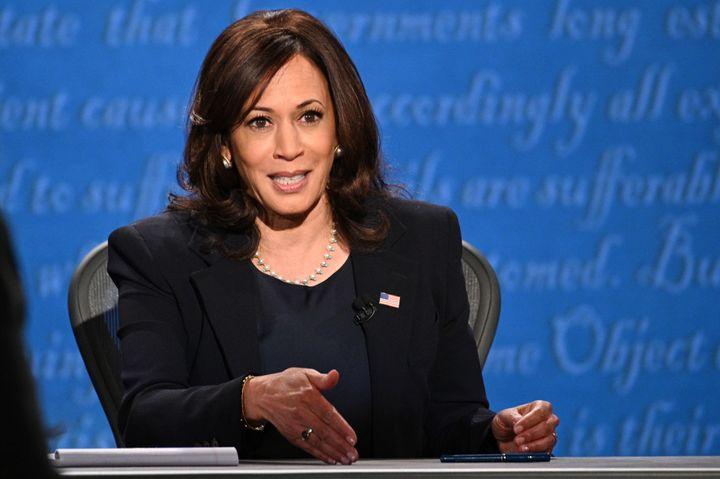 US Democratic vice presidential nominee Kamala Harris.