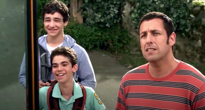 """Cameron Boyce (in the middle) played Adam Sandler's son in """"Grown Ups"""" and """"Grown Ups 2."""""""