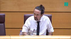 Pablo Iglesias, sobre lo que ha visto al llegar al Senado: