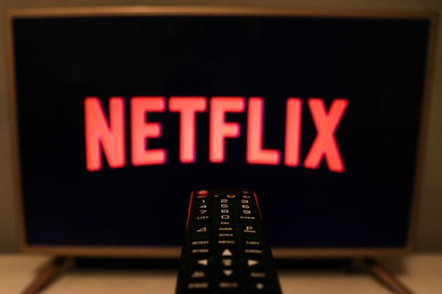 Netflix's logo is seen displayed on a TV screen in Poland on July 16, 2020. The streaming giant says...