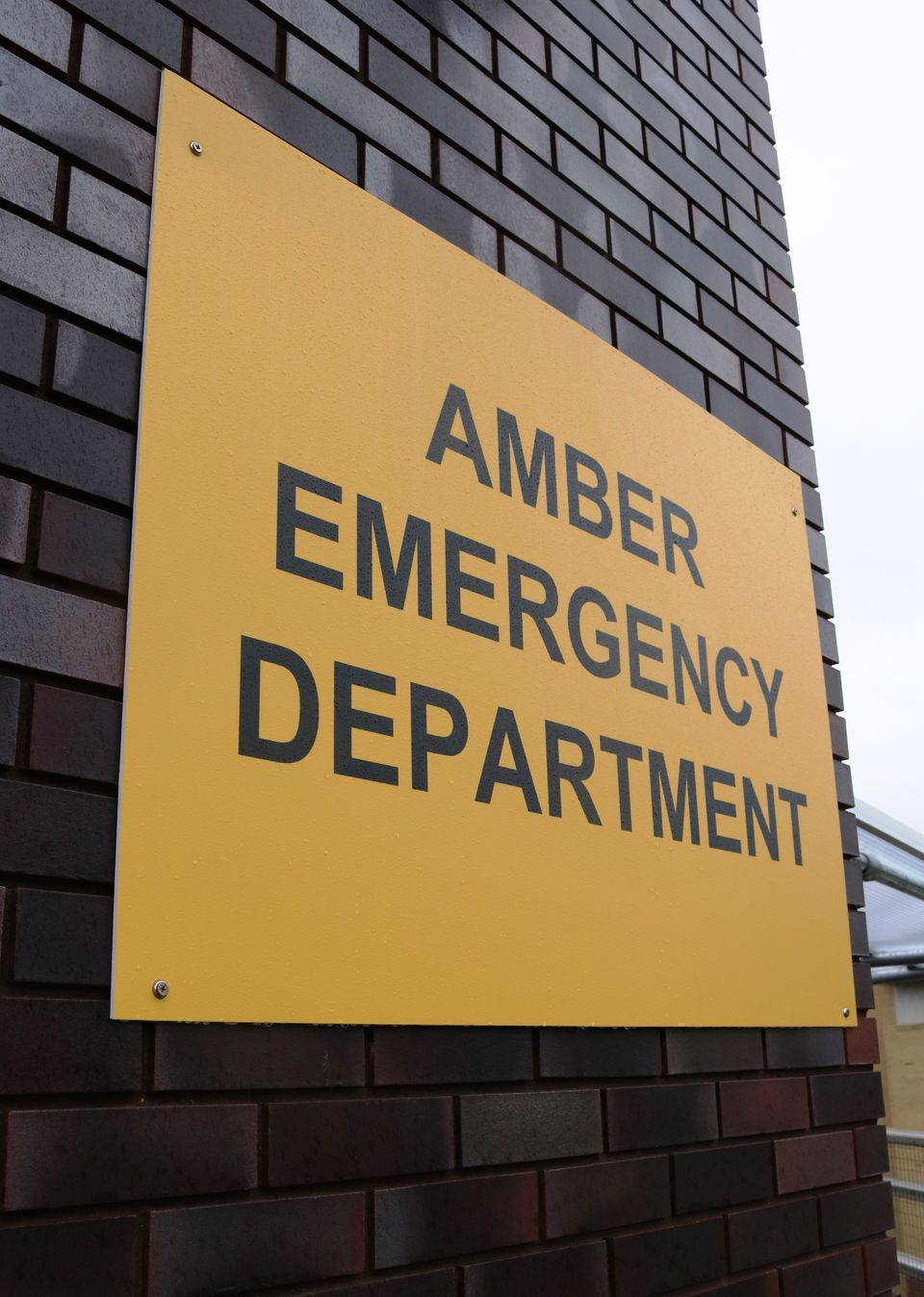 The hospital's A&E department has effectively been split into two. Patients without Covid symptoms are sent to the 'amber emergency department'.