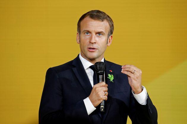 Emmanuel Macron lors d'une intervention à Bpifrance à Paris le 1er